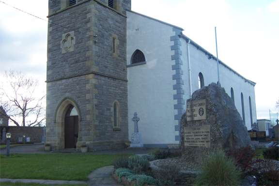 St Josephs Church The Rock Ballyshannon - Main Church Entrance and Rock Monument